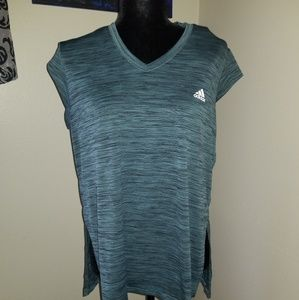 Adidas Sleeveless Green Performance Shirt
